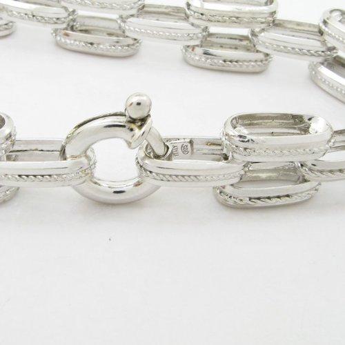 Pour femme-Argent 925/1000-braid Tresse Jaune bracelet lien mbmi72