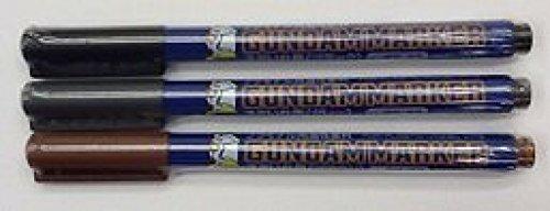GSI Creos Gundam Marker Value Set -GM01&02&03- (Black, Gray, Brown)