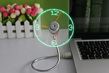 The Source - Ventilador USB con Reloj de Luces LED: Amazon.es ...