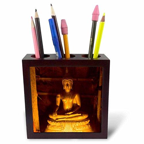 (3dRose ph_70815_1 Buddha, Loi Krathong Festival, Thailand-AS36 AWR0163-Alison Wright-Tile Pen Holder, 5-Inch)