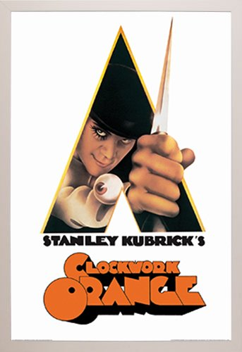 A Clockwork Orange-Knife Poster in a White Plastic Frame 24