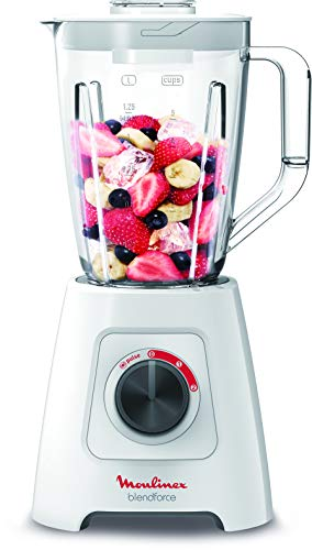Moulinex Blender BlendForce 2, 600 Watts with 4 blades - LM423127