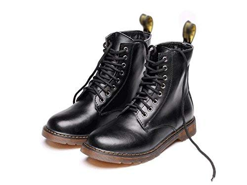 - Fuxitoggo Martin boots men's high soft leather high-end comfortable lace shoes, 41 (color   -, Size   -)