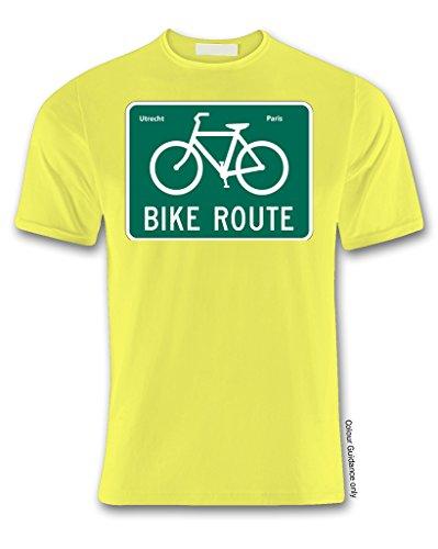 corta de 360 hombre para Amarillo manga Camiseta Ciclismo 6IHwEqP7