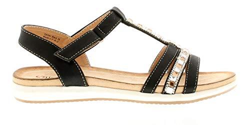 Pour Heavenly Feet Noir Sandales Femme Wqw04nwZE