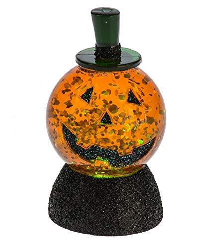 Midwest-CBK Mini Shimmer Globe Light Up Halloween Jack o Lantern 140913 3in -