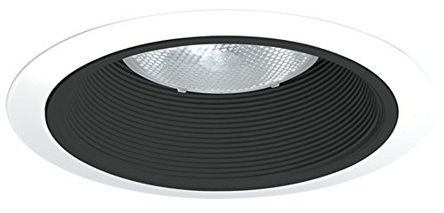 Juno Lighting 24B-WH 6-Inch Tapered Downlight Baffle, Black with White (Juno Black Finish)