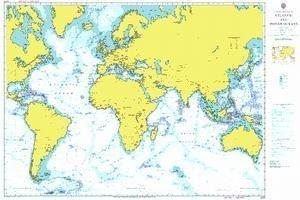 Ba Diagramm 4001  A Planung Diagramm für die Atlantic und indischen Ozean von UNITED KINGDOM Hydrographic Büro