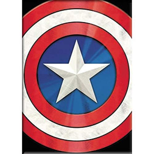 Captain America - Fridge Magnet - Shield Logo - Marvel Comics - Licensed New