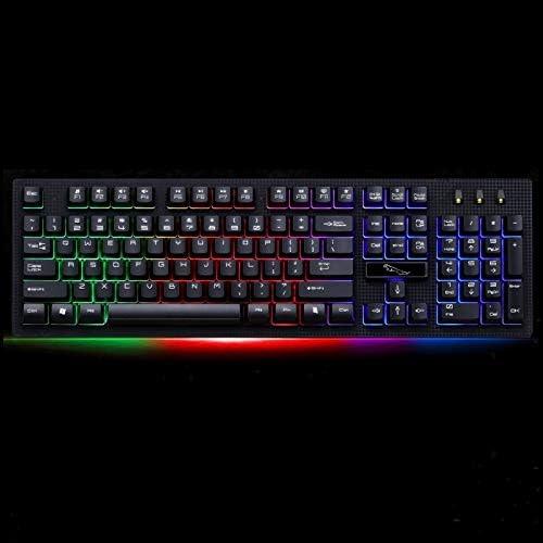Black Computer Accessories ZGB G20 104 Keys USB Wired Mechanical RGB Backlight Computer Keyboard Gaming Keyboard Color : Black