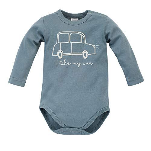 Pinokio – Little Car -Babylichaam Met Lange Mouwen 100% Katoen Met Bolderknoopjes Voor Jongens Uniseks Groen Grijs 62 68…
