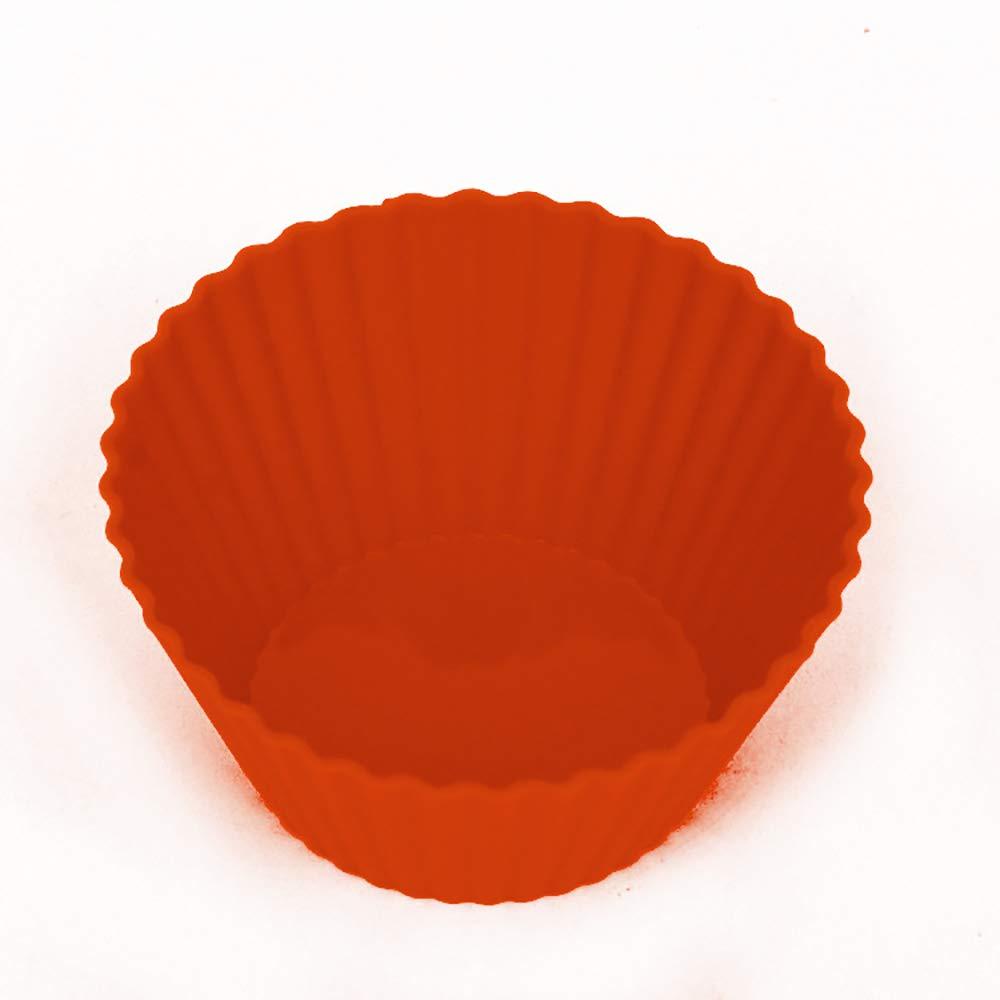 10 pcs Coupes de cuisson en silicone r/éutilisable de taille standard de petit g/âteau Liners 10 Pack Multicolor et sans BPA ronde g/âteau pour Moisissures Petits g/âteaux et petit pain