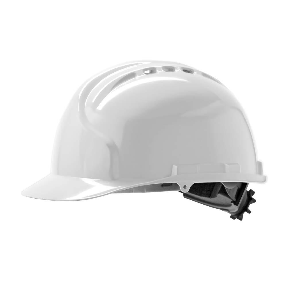 JSP – AHN140 – 000 – 100 MK7 – Casco de seguridad de carraca con rueda, con ventilación, color blanco: Amazon.es: Industria, empresas y ciencia