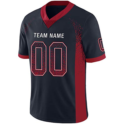 Custom Football Jerseys Mesh Design Your Team Name and Your Number Personalized for Youth M