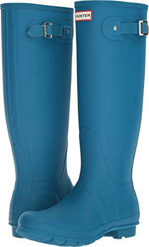 Hunter Women's Original Tall Ocean Blu Rain Boots - 10 B(M) US