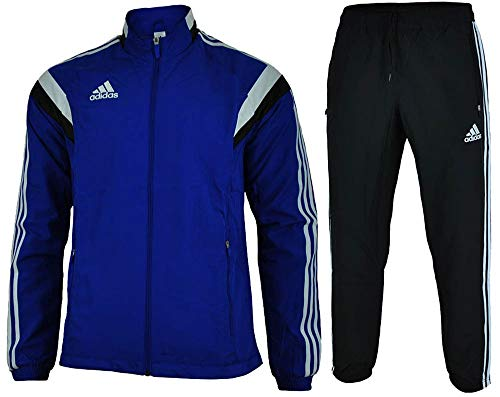 Adidas Con 14 Pre Suit Men's Regular FIT Sports Football Tracksuit Blue, Sizes:S