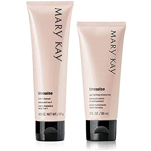 Mary Kay Timewise Age-fighting Moisturizer & 3 in 1 Cleanser Normal to Dry Skin Full Size Set