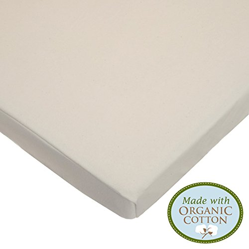 American Baby Company Knit Fitted Pack N Play Playard Sheet made with Organic Cotton, Natural Color