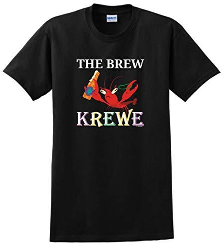 The Mardi Gras Krewe Punny Gifts Crayfish Mardi Gras Outfit The Brew Krewe Mardi Gras Attire T-Shirt 4XL Black]()