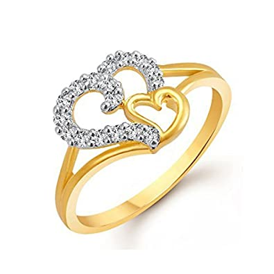 Buy Meenaz Jewellery Valentine Heart Wedding Fancy Party wear Gold