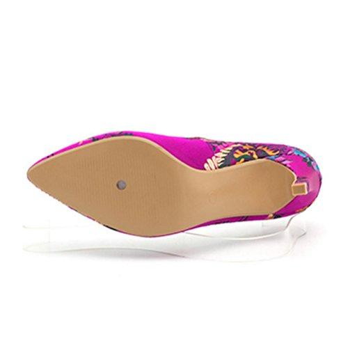 Classique Chaussures Xie Femmes Shallow Talon Talons Mouth Gold Pointues Fine Hauts TwtFxfqtO5