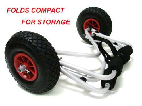 TMS CART-CANOE/KAYAK-KY001 New Jon Boat Kayak Canoe Carrier Dolly Trailer Tote Trolley Transport Cart Wheel