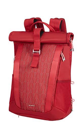 Samsonite 2wm Lady - Sac à dos en rouleau pour ordinateur portable, 42 cm, 16 L, rouge (rouge)