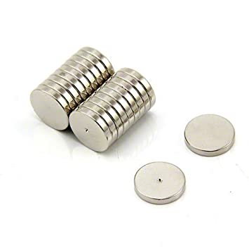 Pack of 100 3 x 3 x 20mm thick N42 Neodymium Magnet 0.35kg Pull