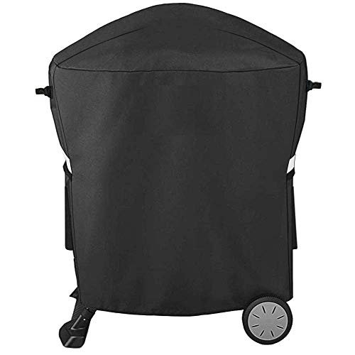 QuliMetal 7113 Grill Cover for Weber Q100 Q1000 Q1200 Q200 Q2000 Q2200 Grills with Q Portable Cart, Fits Weber 50060001 51060001 54060001 LP Grills, Compatiable with Weber 7113