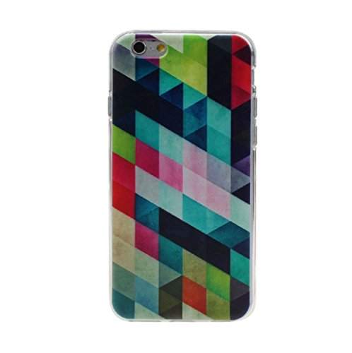 TOOPOOT(TM) Colored Squares Soft TPU Silicone Case Cover Skin For iPhone 6 Plus 5.5