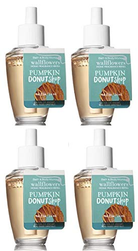 Bath and Body Works 4 Pack Pumpkin Donuts Shop Wallflowers Fragrances Refill. 0.8 ()