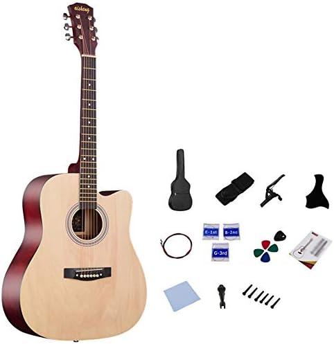 ギター クラシックギターのための専門の性能試験41インチクラシックギター アコースティックギター (Color : Natural, Size : 41 inches)