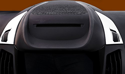 ABS Matte Center Console Dashboard Air Vent Adjusting Button Cover Trim 2pcs For Ford Escape Kuga 2017