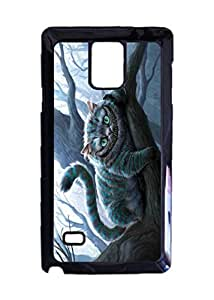Alice In Wonderland Custom Image Case, Diy Durable Hard Case Cover for Samsung Galaxy Note 4 , High Quality Plastic Case By Argelis-Sky, Black Case New