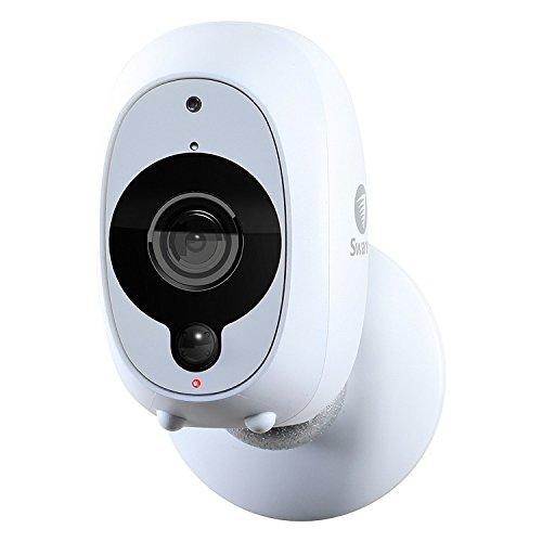 Swann Caméra de Sécurité Intelligente Sans Fil Full HD 1080p avec Détecteur de Chaleur / Mouvement PIR, Vision Nocturne et Audio