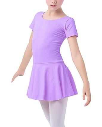 Guiran Niñas Vestido De Ballet Maillot Falda De Danza: Amazon.es ...