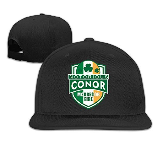 Walter Margaret Mens Conor Mcgregor Embroi Embroidery Cotton Adjustable Cool Gorra Hip Hop Tiene Gorra de b/éisbol Black