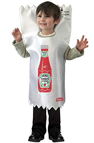 (BESTPR1CE Toddler Halloween Costume- Heinz Ketchup Packet Toddler Costume)