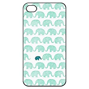 Elephant Hard Back Shell Case Cover Skin for Iphone 4 4g 4s Cases - Black/white/clear
