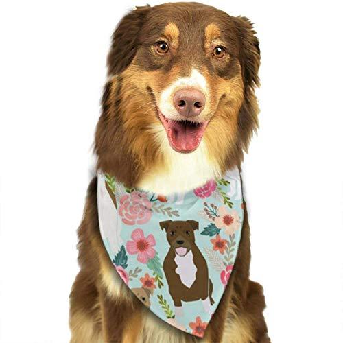 BAGT Dog Bandana Christmas Costume Pet Floral Pitbull Scarf Cat Bandana for Christmas ()