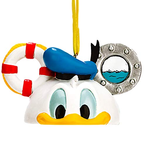 Christmas Donald Duck - Disney World WDW Park 2015 Donald Duck Mickey Ear Head Hat Christmas Ornament