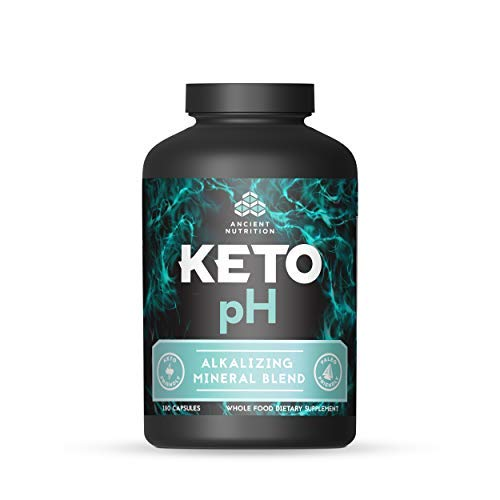 Ancient Nutrition KETOpH Alkalizing Blend, 180 Capsules pH Balance Supplement Designed for The Keto Diet
