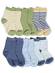 Organic cotton makes these socks soft and comfortable, keeping your little one's feet warm with a gentle touch. This 6 pack of socks come with solid color and stripe variety to mix and match with any outfit. Available in sizes up to 24 months. These ...