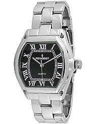Peugeot Womens 7069SBK Silver-tone Roman Numeral Bracelet Watch