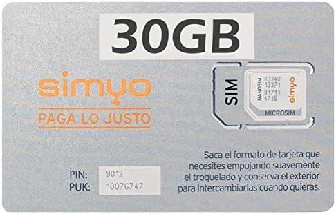 Simyo - Tarjeta sim prepago con 1 GB y 100 min.: Amazon.es: Informática