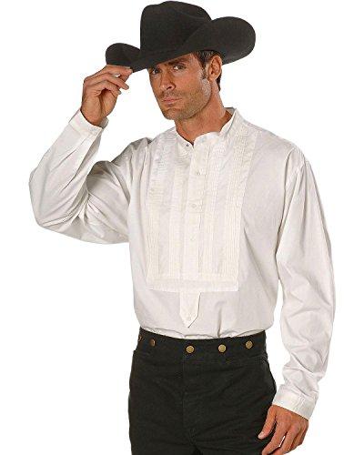Scully Rangewear by Men's Rangewear White Gambler Shirt White (Cotton T-shirt Bib)