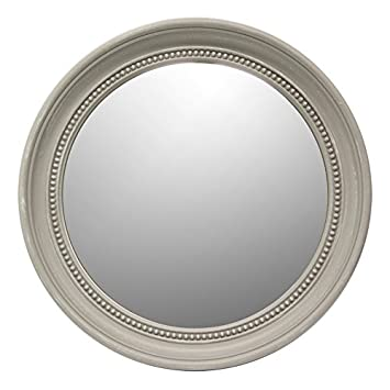 Other Modern Small Round Wall Mirror Pvc Frame Grey