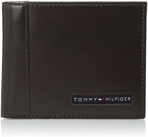 Tommy Hilfiger Men's Leather Cambridge Passcase Wallet with Removable Card Case
