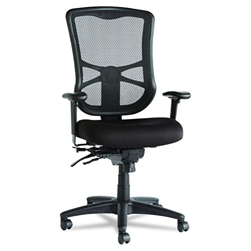 Alera Elusion Series Mesh High-Back Multifunction Chair, Black by Alera