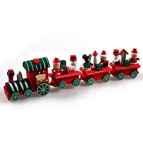 Dds5391 Halloween Hot Xmas Wooden Christmas Train Santa